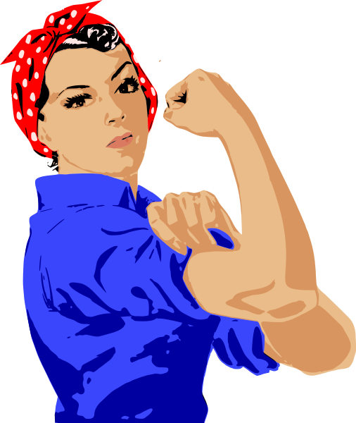 Free Clipart Strong Woman.