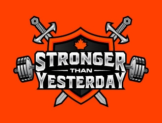 Stronger Than Yesterday logo design.