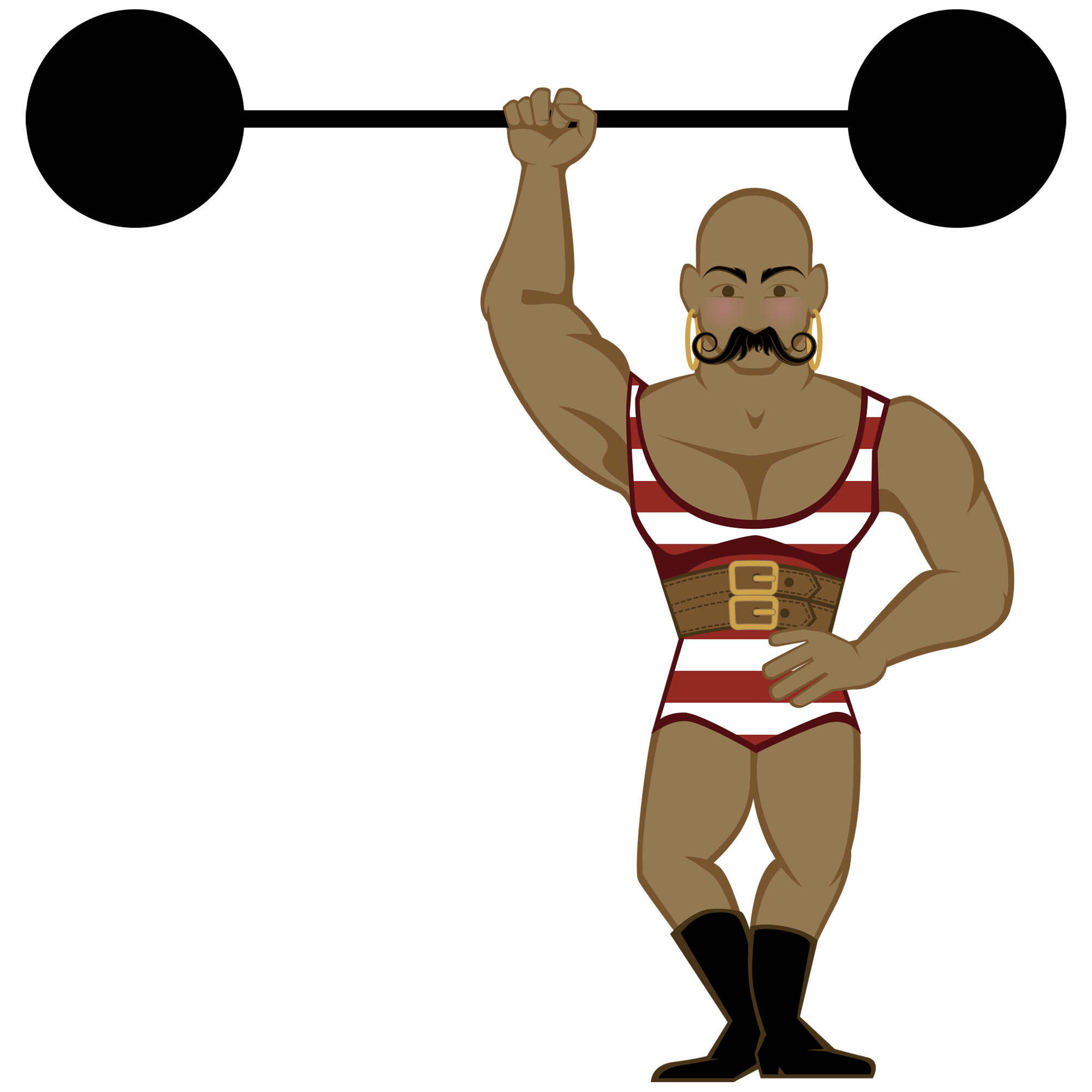 Circus Strong Man Clipart.