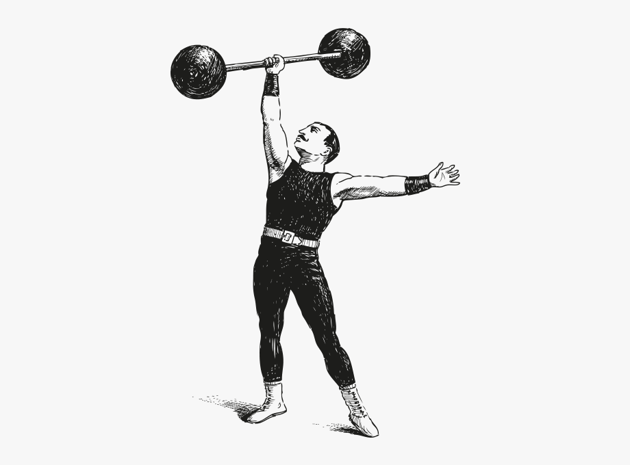Dumbbell Clipart Olympic Barbell.