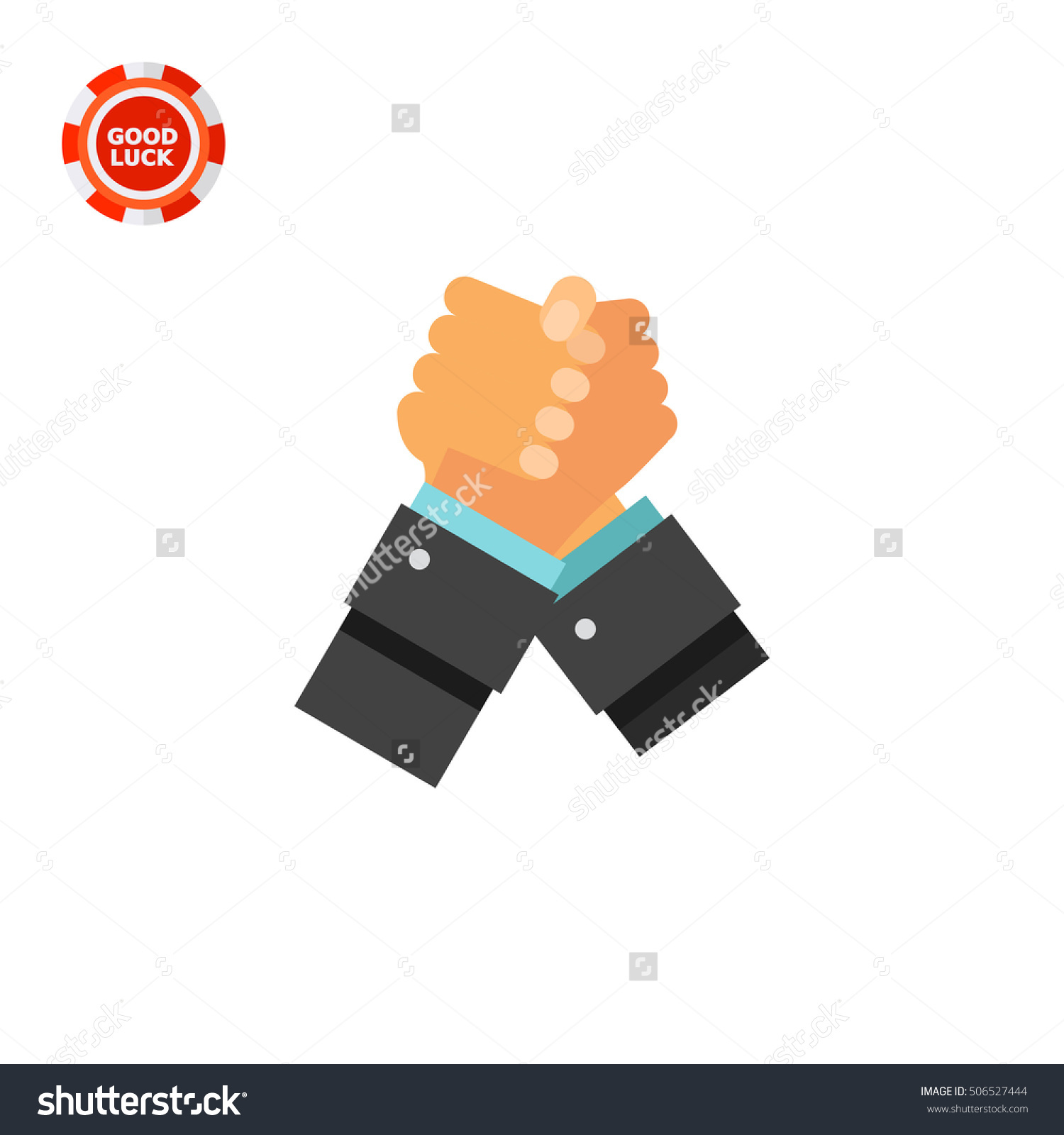 Struggling Hands Icon Stock Vector 506527444.