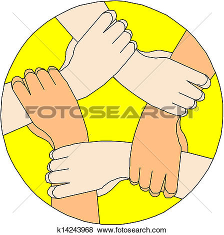 Clipart of People struggling for peace k18025124.
