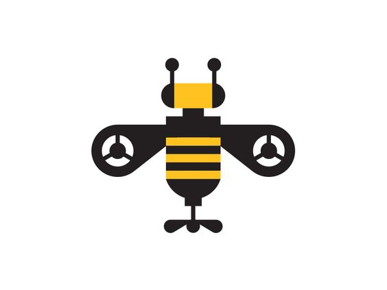 Drone bee, A logo and Drones on Pinterest.