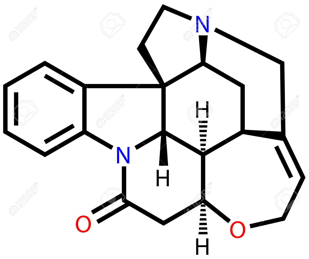 Strychnine, A Highly Toxic Alkaloid That Couses Muscular.