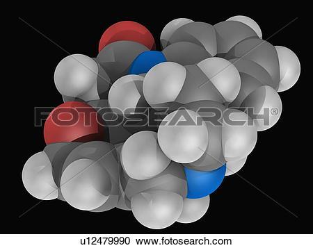 Stock Illustrations of Strychnine molecule u12479990.