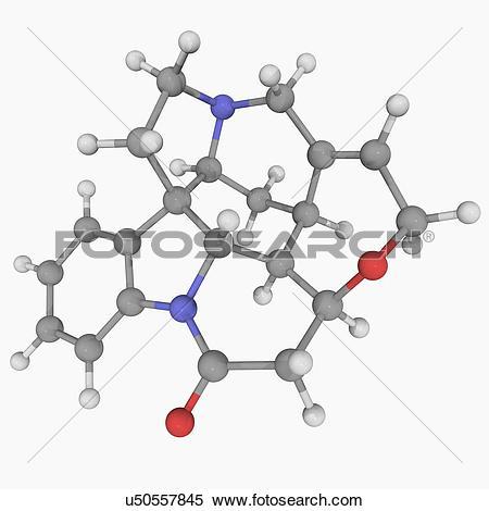 Stock Illustration of Strychnine molecule u50557845.