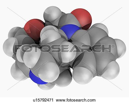 Clipart of Strychnine molecule u15792471.