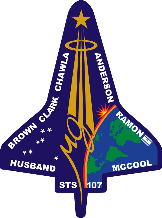 clipartist.net » Clip Art » Sts 107 Flight Insignia NASA.