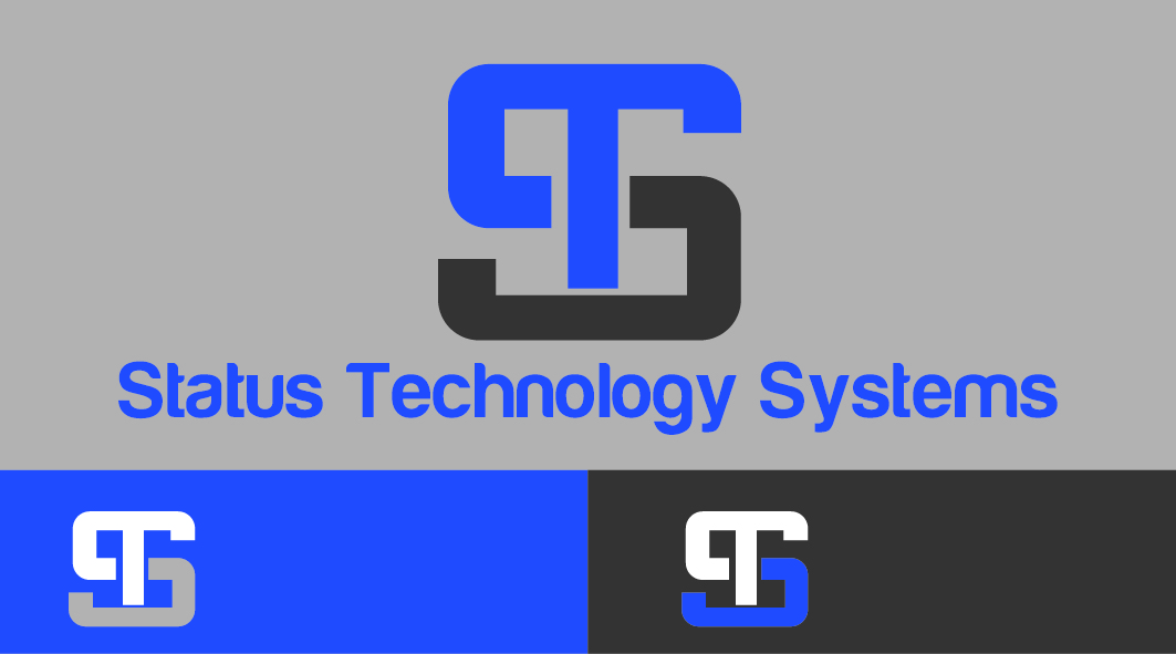 Upmarket, Serious Logo Design for Status Technology Systems.