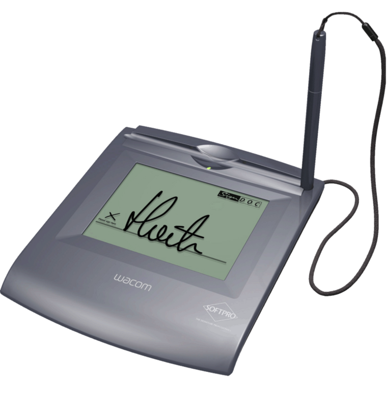 SOFTPRO Signature Pad SignPad ESignio Wacom STU 500 Clipart.