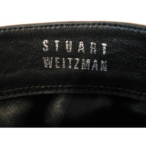 Leather boots Stuart Weitzman Black size 38 EU in Leather.