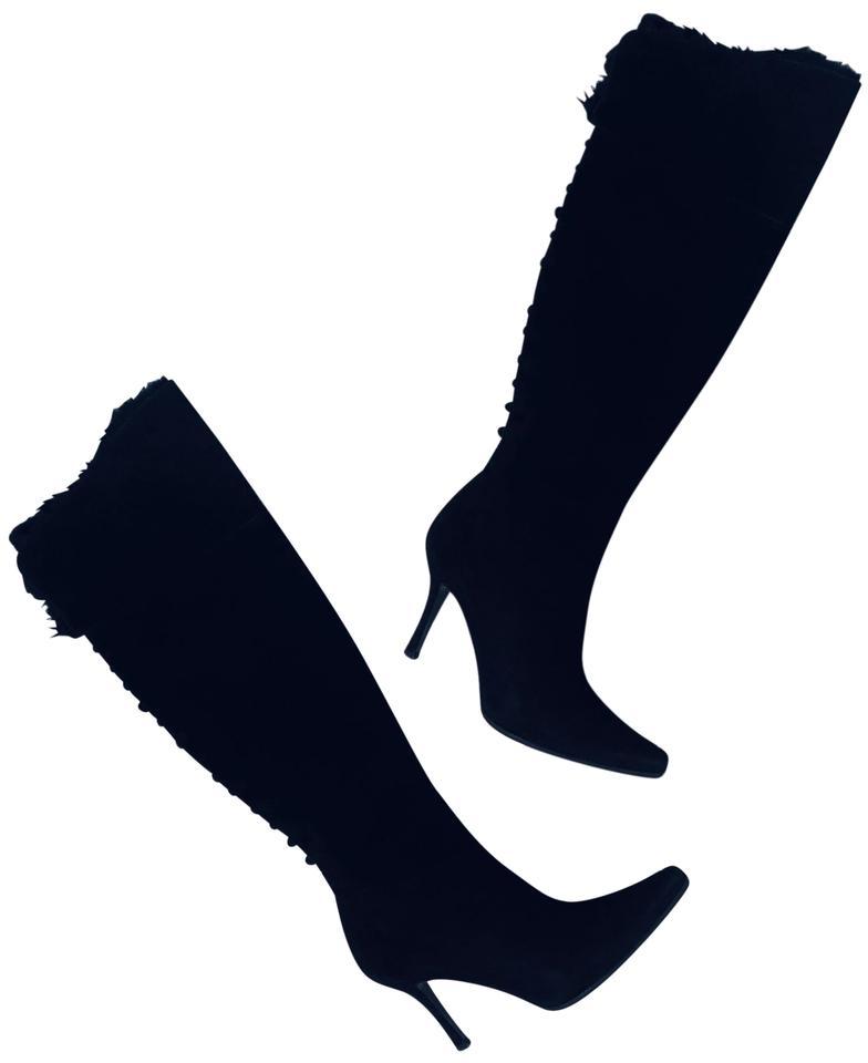 Stuart Weitzman Black Over The Knee (Otk) Suede Boots/Booties Size US 7.5  Regular (M, B) 83% off retail.