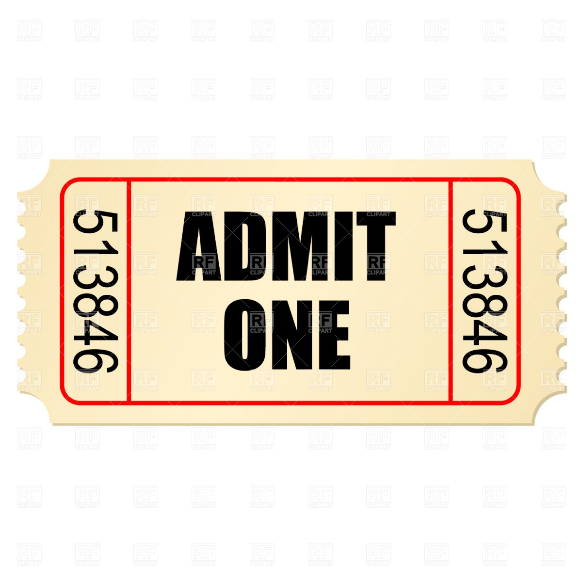 Blank ticket stub clipart.