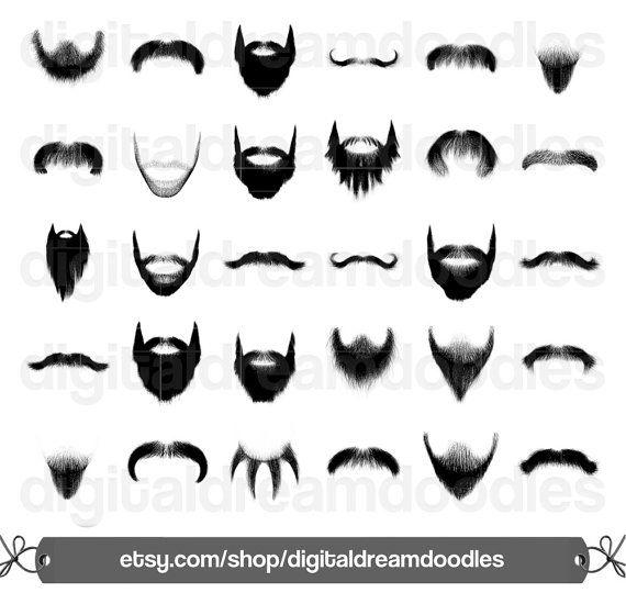Beard Clipart, Beard Clip Art, Moustache Clipart, Mustache Clip.