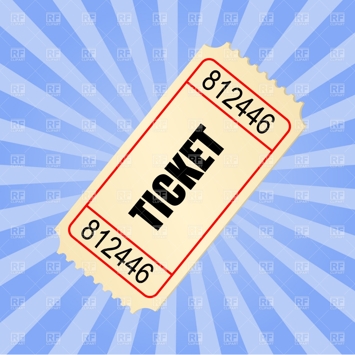 Ticket Stub Clipart.
