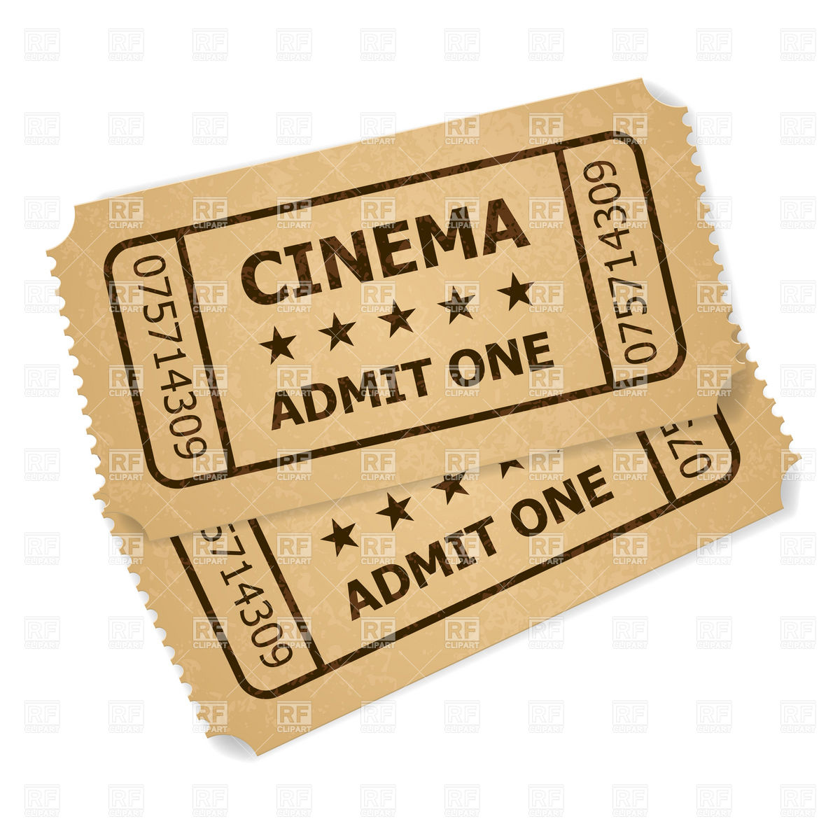 Movie ticket stub clipart.
