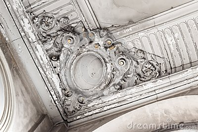 Stucco Ceiling Stock Photo.