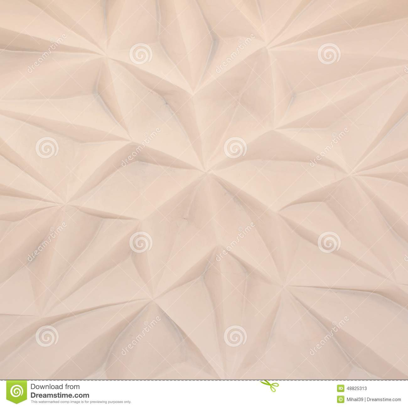 Ancient Stucco Ceiling Texture, Background Stock Photo.