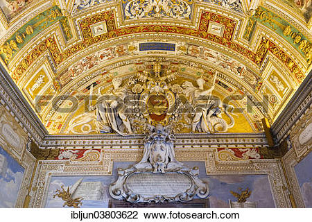 "Stock Photo of ""Coat of warms of Pope Urban VIII and stucco."