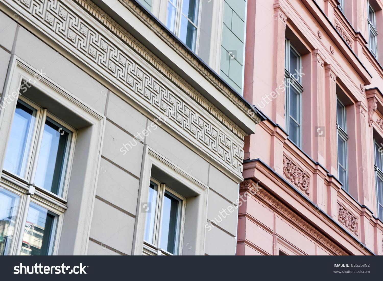 Stucco Facades Stock Photo 88535992 : Shutterstock.