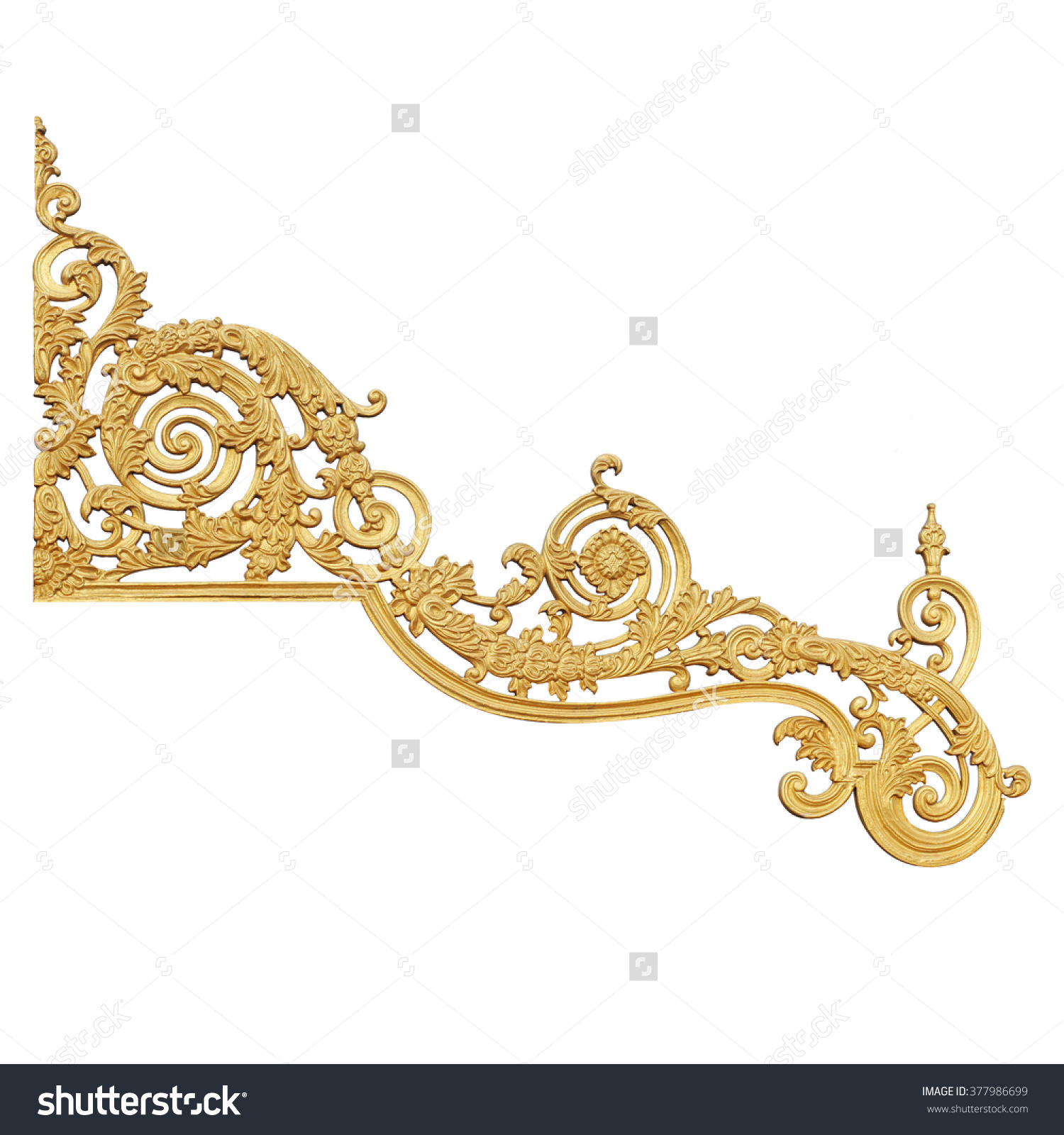 Old Antique Gold Frame Stucco Walls Stock Photo 377986699.