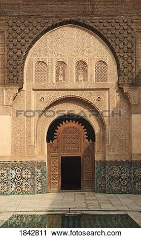 Stock Photography of Intricate Wood Carving, Stucco Work And.