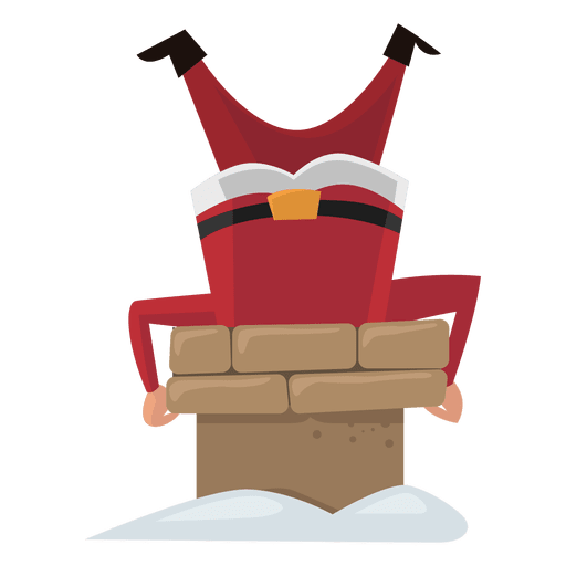 Santa Stuck In A Chimney Png & Free Santa Stuck In A Chimney.