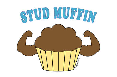 Stud muffin clipart.