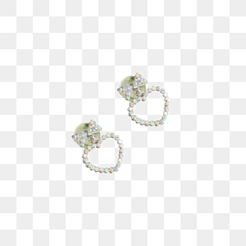 Diamond Stud Earrings PNG Images.