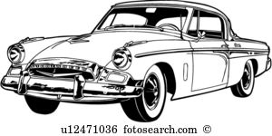 Studebaker Clip Art and Illustration. 4 studebaker clipart vector.