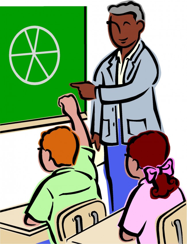 Image of School Children and Teacher Clipart #8588, Student.