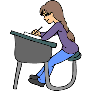 Student At Desk Clip Art.