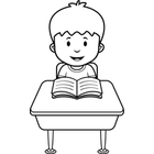 Student Black And White In Line Clipart#1944721.