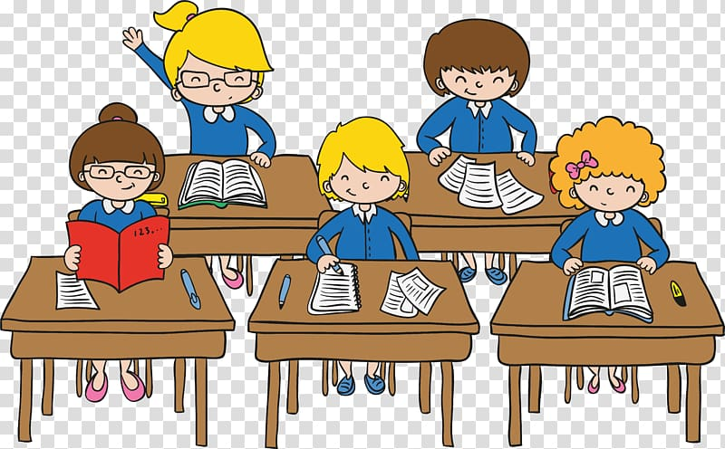 Children , Classroom Student Cartoon, classroom education.