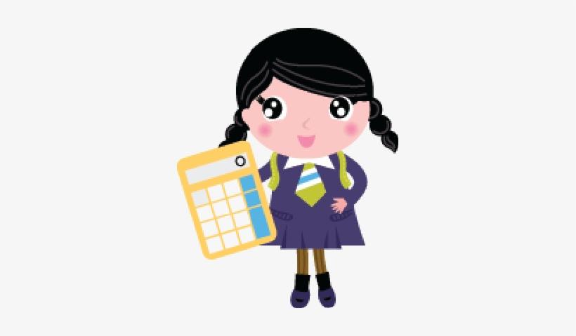 Student Girl Cartoon Cute Png.