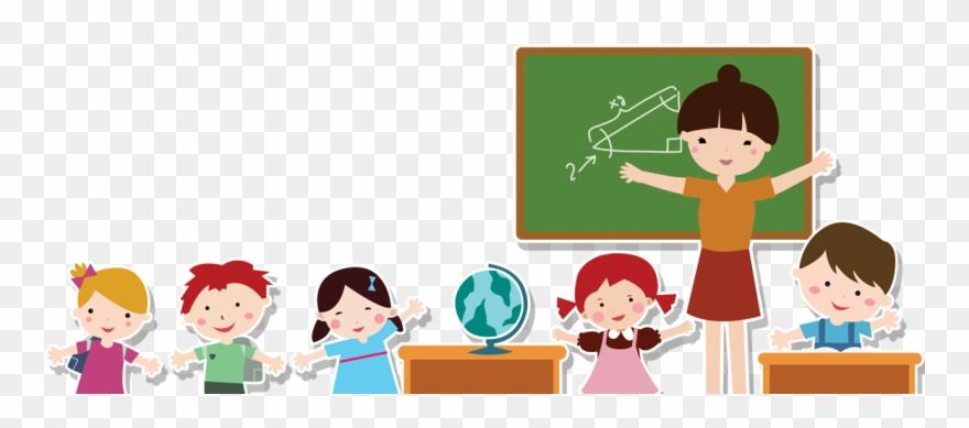 Teacher And Student Cartoon Png Clipart (#786387).
