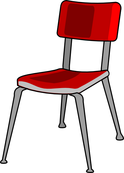 Red Student Desk Chair Clip Art at Clker.com.