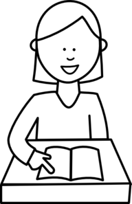 Student Clipart Black And White.