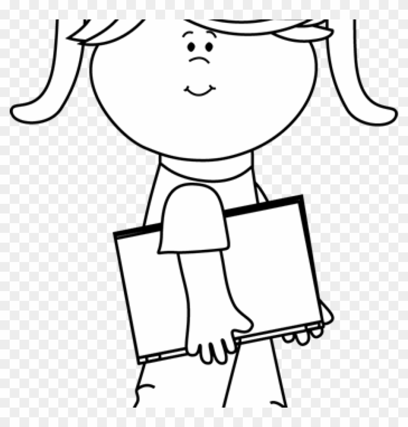 Girl Clipart Black And White Clip Art Black And White.