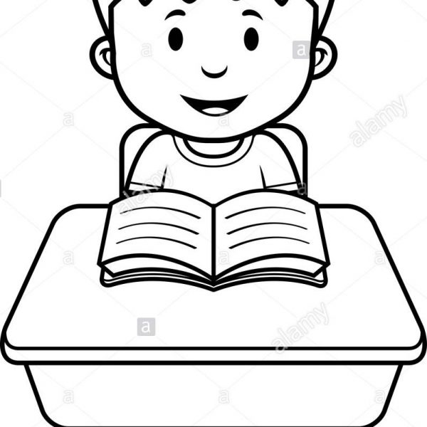 Student Class School Desk Boy Black And White Stock Photos.