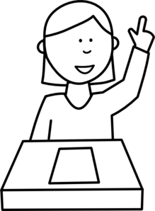 Student Clip Art Black And White.
