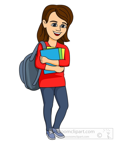 Female Student Clipart.