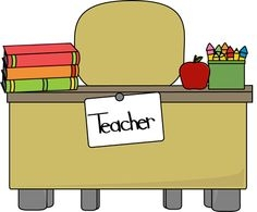 Student desk change clipart.