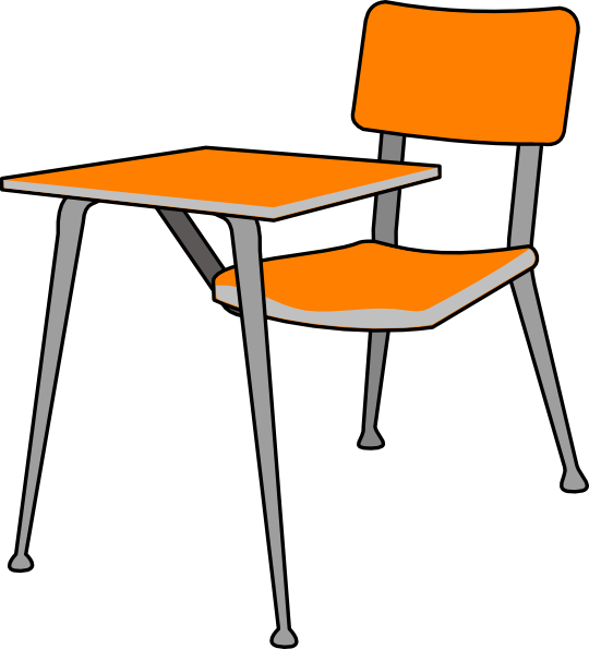 Student Desk clip art vector.