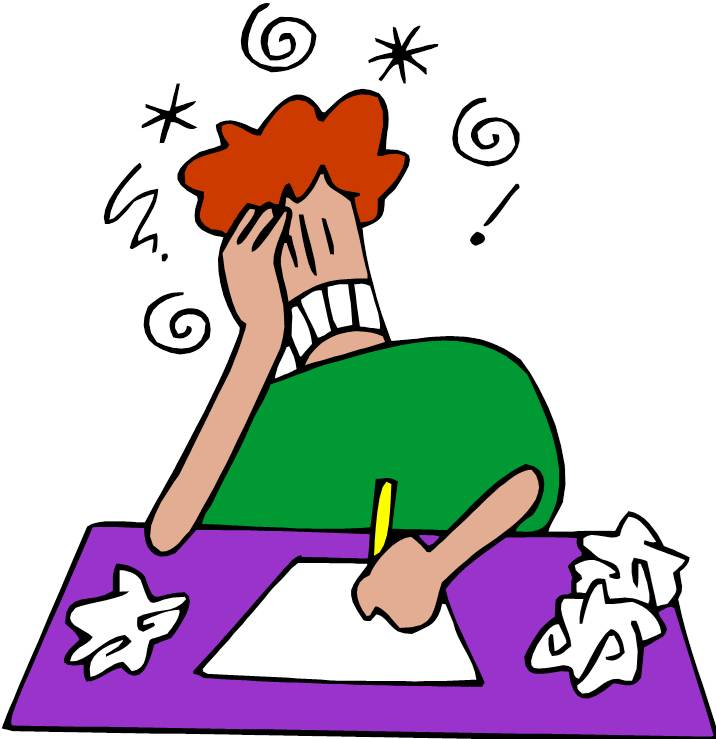 Student Doing Homework Clip Art N13 free image.