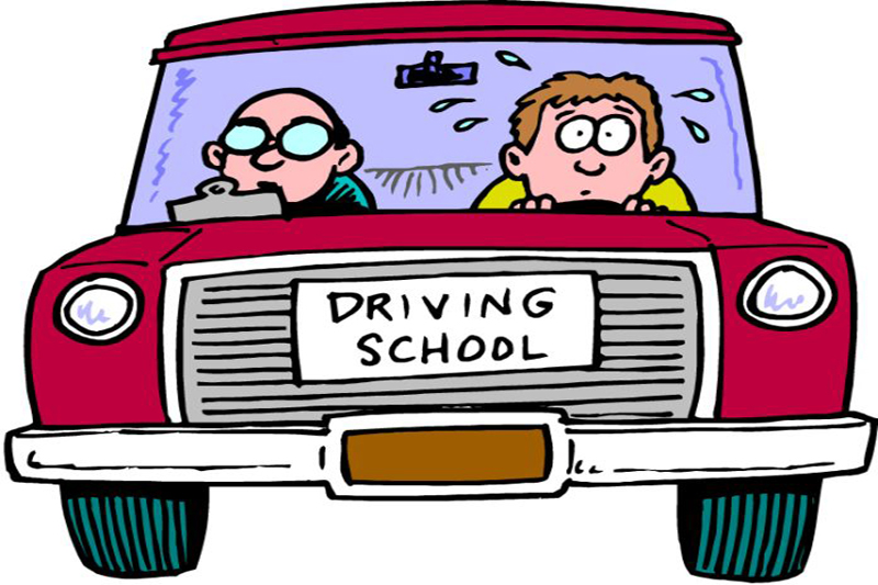 Showing post & media for Student driving car cartoon.