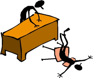 Student Falling In Chair Clipart.