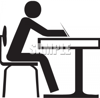 Student Sitting In Chair Clipart.