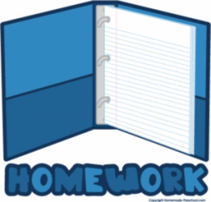 Homework Folder Clipart.