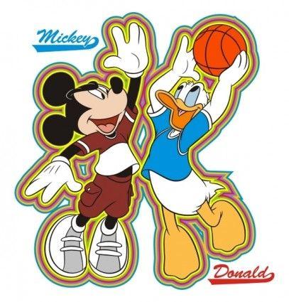 mickey and donald basketball.